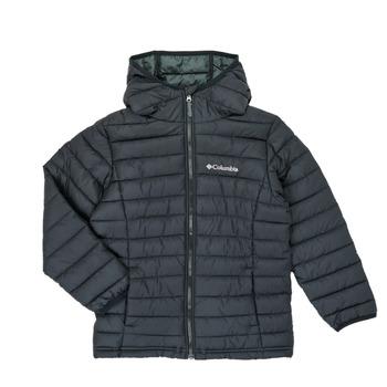 Vêtements Garçon Doudounes Columbia POWDER LITE HOODED JACKET Noir
