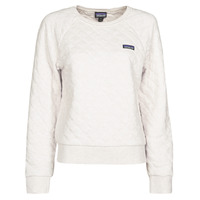 Vêtements Femme Sweats Patagonia W'S ORGANIC COTTON QUILT CREW Ecru
