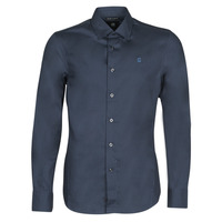 Vêtements Homme Chemises manches longues G-Star Raw DRESSED SUPER SLIM SHIRT LS Bleu