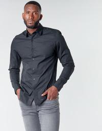 Vêtements Homme Chemises manches longues G-Star Raw DRESSED SUPER SLIM SHIRT LS Noir