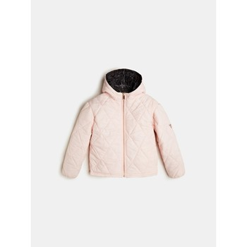 Vêtements Fille Doudounes Guess J0YL01-WCAB0-PIK Noir / Rose