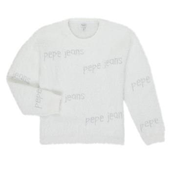 Vêtements Fille Pulls Pepe jeans AUDREY Blanc