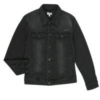Vêtements Garçon Vestes en jean Pepe jeans LEGENDARY Noir