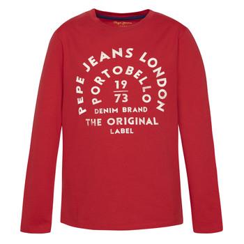 Vêtements Garçon T-shirts manches longues Pepe jeans ANTONI Rouge