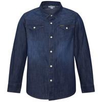 Vêtements Garçon Chemises manches longues Pepe jeans JHON Bleu