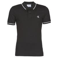 Vêtements Homme Polos manches courtes Calvin Klein Jeans TIPPING SLIM POLO Noir