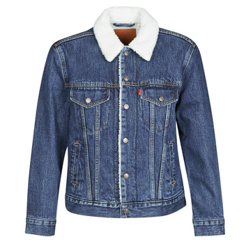 Vêtements Femme Vestes en jean Levi's EX-BF SHERPA TRUCKER Bleu