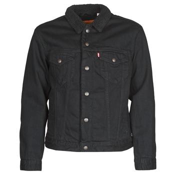 Vêtements Homme Vestes en jean Levi's TYPE 3 SHERPA TRUCKER Noir