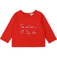 Vêtements Fille T-shirts manches longues Carrément Beau Y95252 Rouge
