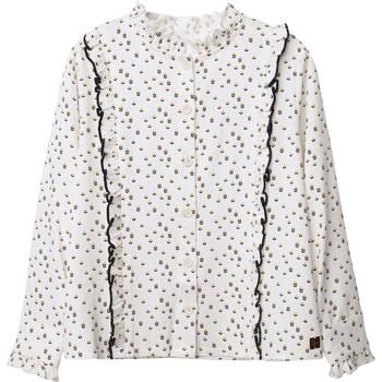 Vêtements Fille Tops / Blouses Carrément Beau Y15356 Blanc