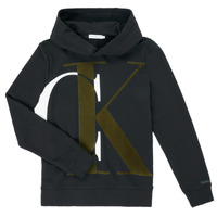 Vêtements Garçon Sweats Calvin Klein Jeans IB0IB00628-BEH Noir
