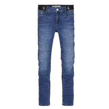 Vêtements Fille Jeans skinny Calvin Klein Jeans IG0IG00639-1A4 Bleu