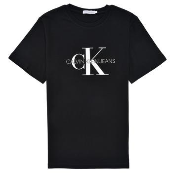 Vêtements Enfant T-shirts manches courtes Calvin Klein Jeans MONOGRAM Noir