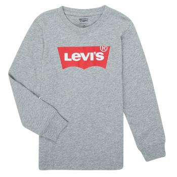 Vêtements Garçon T-shirts manches longues Levi's BATWING TEE LS Gris