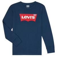 Vêtements Garçon T-shirts manches longues Levi's BATWING TEE LS Bleu