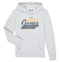 Vêtements Garçon Sweats Jack & Jones JJELOGO SWEAT HOOD Gris