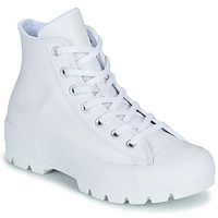 Chaussures Femme Baskets montantes Converse CHUCK TAYLOR ALL STAR LUGGED LEATHER HI Blanc