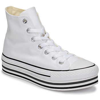 Chaussures Femme Baskets montantes Converse CHUCK TAYLOR ALL STAR PLATFORM EVA LAYER CANVAS HI Blanc