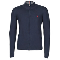 Vêtements Homme Gilets / Cardigans U.S Polo Assn. INSTITUTIONAL ZIP KNIT Bleu