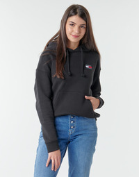 Vêtements Femme Sweats Tommy Jeans TJW TOMMY BADGE HOODIE Noir