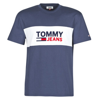 Vêtements Homme T-shirts manches courtes Tommy Jeans TJM PIECED BAND LOGO TEE Marine