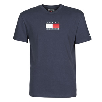 Vêtements Homme T-shirts manches courtes Tommy Jeans TJM SMALL FLAG TEE Marine