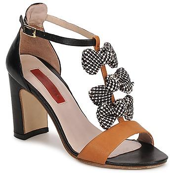 Chaussures Femme Sandales et Nu-pieds MySuelly CAPO Noir / Marron