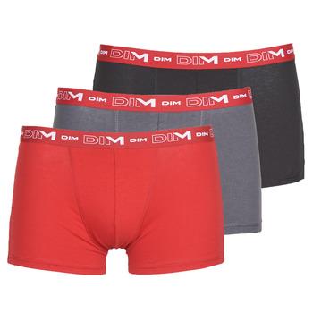 Sous-vêtements Homme Boxers DIM COTON STRETCH Gris / Rouge / Noir