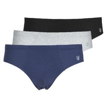 Sous-vêtements Homme Slips Mariner PACK COTON BIO Noir / Marine / Gris