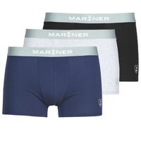 Sous-vêtements Homme Boxers Mariner PACK COTON BIO Noir / Marine / Gris