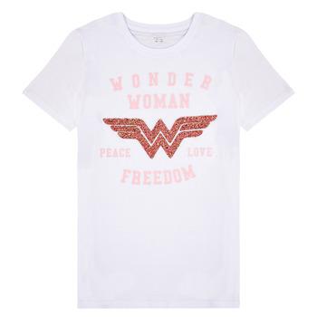 Vêtements Fille T-shirts manches courtes Name it NKFWONDERWOMEN Blanc