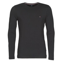Vêtements Homme T-shirts manches longues Tommy Hilfiger STRETCH SLIM FIT LONG SLEEVE TEE Noir