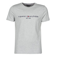 Vêtements Homme T-shirts manches courtes Tommy Hilfiger TOMMY LOGO TEE Gris