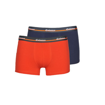 Sous-vêtements Homme Boxers Eminence DUO TRAVEL X2 Orange / Marine