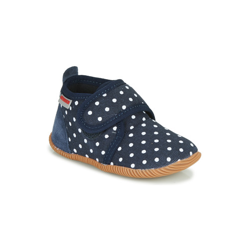 Chaussures Fille Chaussons Giesswein STANS Marine / Blanc