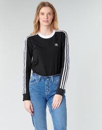 Vêtements Femme T-shirts manches longues adidas Originals 3 STR LS Noir