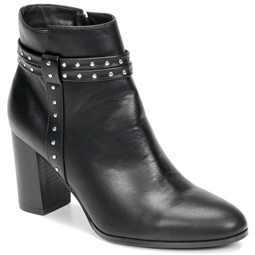 Chaussures Femme Bottines Moony Mood NINOU Noir