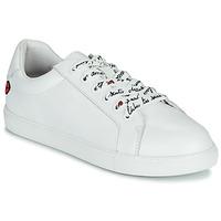 Chaussures Femme Baskets basses Bons baisers de Paname SIMONE IN LOVE LACETS Blanc