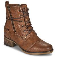 Chaussures Femme Boots Mustang 1229508 Cognac