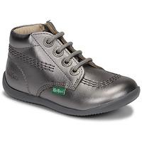 Chaussures Fille Boots Kickers BILLYZIP-2 Argenté