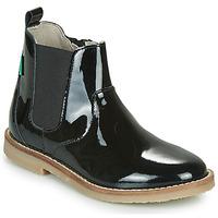 Chaussures Fille Boots Kickers TYPIK Noir Verni