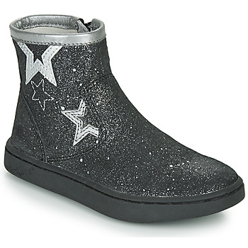 Chaussures Fille Boots Kickers LYBOOSTAR Noir / Argent