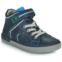 Chaussures Garçon Baskets montantes Kickers IRELAS Marine / Bleu
