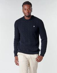 Vêtements Homme Pulls Timberland LAMBWOOL CABLE Marine