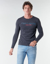 Vêtements Homme T-shirts manches longues Teddy Smith TICLASS BASIC M Marine