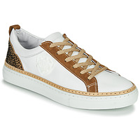 Chaussures Femme Baskets basses Philippe Morvan CORK V1 NAPPA BLANC Blanc / Camel