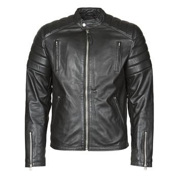 Vêtements Homme Vestes en cuir / synthétiques Schott LC FUEL Noir