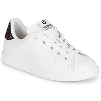 Chaussures Fille Baskets basses Victoria TENIS PIEL Blanc / Bordeaux