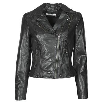 Vêtements Femme Vestes en cuir / synthétiques Naf Naf CAMILLA Noir