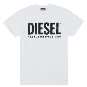Vêtements Enfant T-shirts manches courtes Diesel TJUSTLOGO Blanc